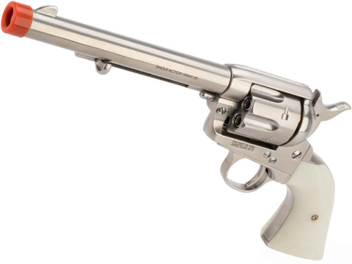Colt SAA .45 Peacemaker Gas Powered Revolver (Color:Silver)