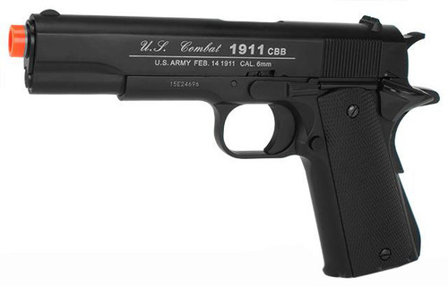 Win Gun 1911A1 CO2 Blowback Pistol - Black