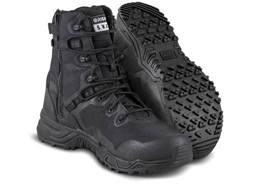 Original Swat Alpha Fury 8 Side Zip Boots (Color: Black)