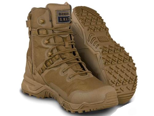 Original Swat Alpha Fury 8 Side Zip Boots (Color: Coyote)