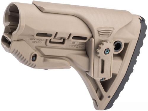 FAB Defense GL-SHOCK CP Shock-Absorbing Buttstock w/ Adjustable Cheek Rest (Color: Flat Dark Earth)