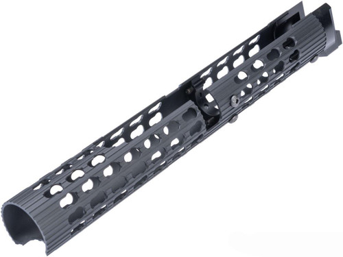 5KU Tubular Keymod Handguard for AK Airsoft AEG Rifles ( Black / VS-24)