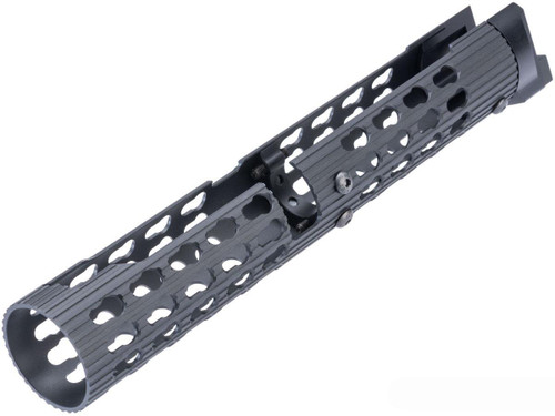5KU Tubular Keymod Handguard for AK Airsoft AEG Rifles (Black / VS-25)
