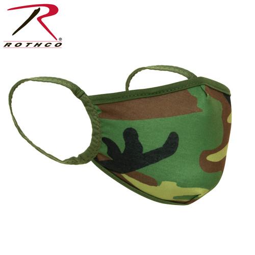 Rothco Kids Reusable 3-Layer Face Mask - Woodland Camo