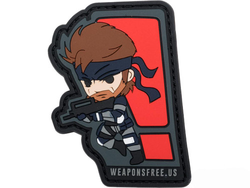 """Weaponsfree.US """"Solid Snake"""" Tactical PVC Morale Patch"""