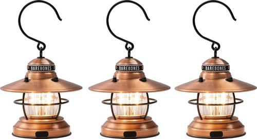 Edison Mini Lantern Copper 3pk