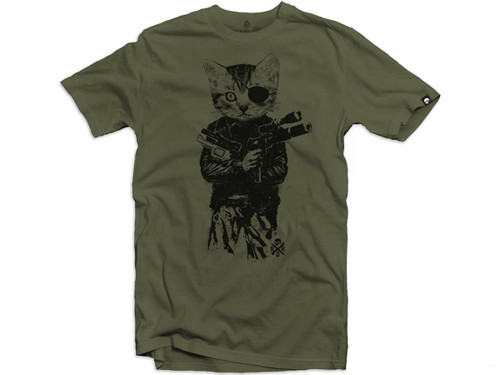 """Black Rifle Division """"Mr. Whiskers"""" Shirt (Color: Green)"""
