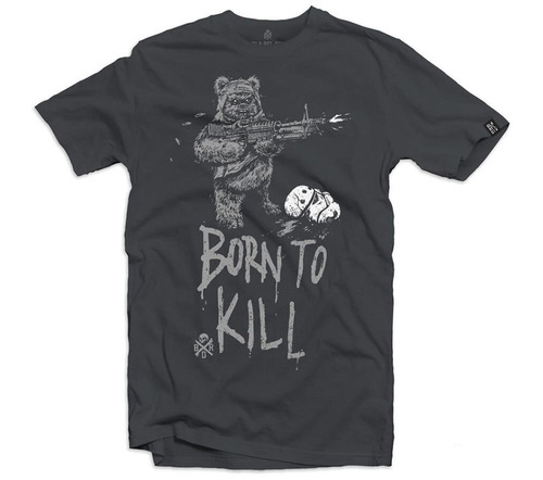 "Black Rifle Division ""Born to Kill"" T-shirt - Grey"
