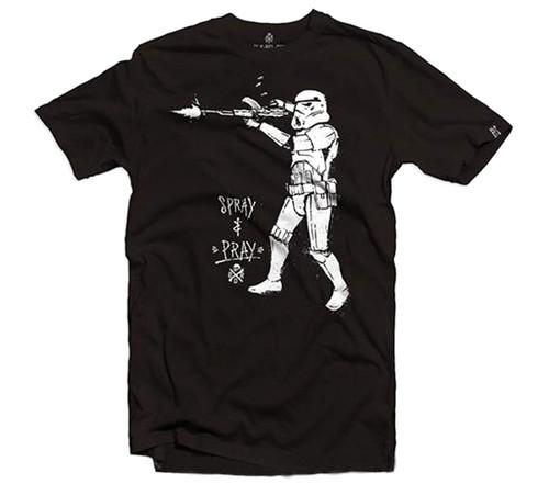 "Black Rifle Division ""Spray and Pray"" T-shirt (Color:Black)"