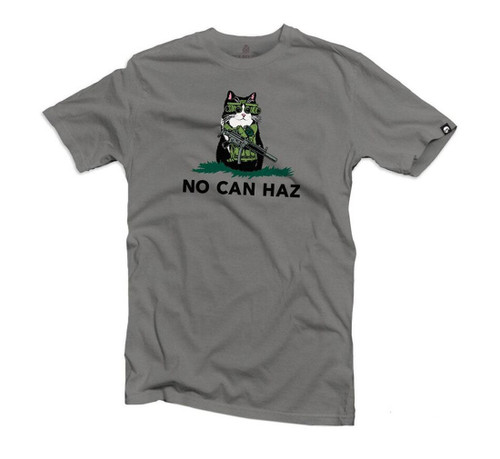 "Black Rifle Division ""No Can Haz"" Shirt (Color: Grey)"