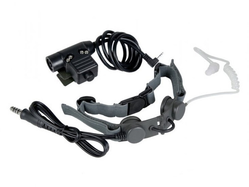 Bravo Airsoft Throat Mic w/PTT - 1 Pin Motorola