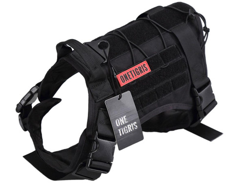 OneTigris Fire Watcher Dog Harness (Color: Black)