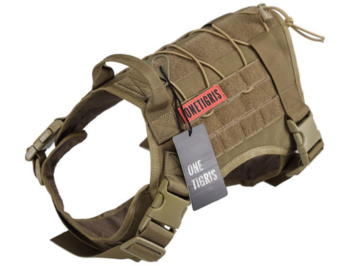 OneTigris Fire Watcher Dog Harness (Color: Coyote Brown)