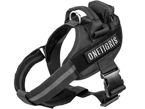 OneTigris MAD HOUND K9 Dog Harness (Color: Black)
