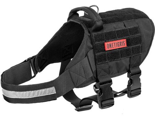 OneTigris RHINOCEROS K9 Dog Harness (Color: Black )