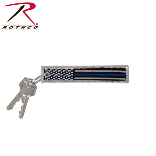 Rothco Thin Blue Line Flag Patch Keychain