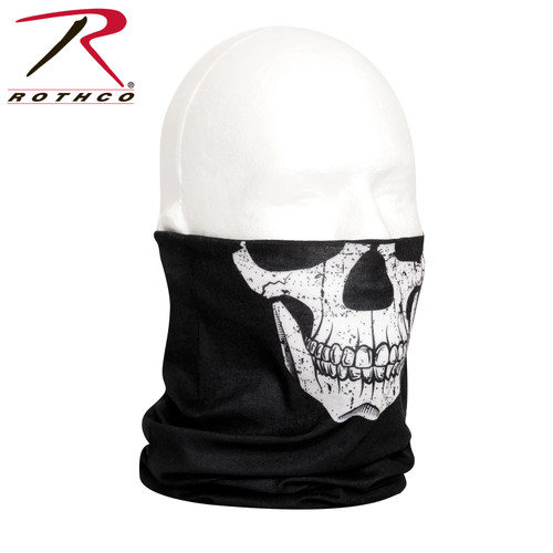 Rothco Multi-Use Neck Gaiter & Face Covering Tactical Wrap - Skull Print