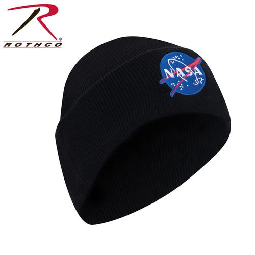 Deluxe NASA Meatball Logo Embroidered Watch Cap - Black