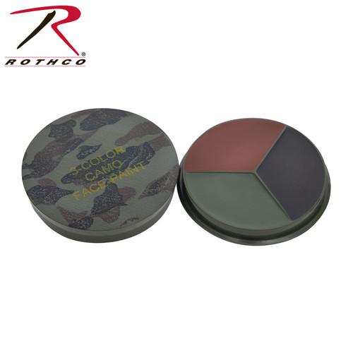 Rothco Round Camo Face Paint Compact - Woodland Camo