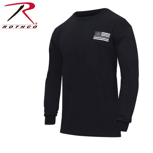Thin Blue Line Honor and Respect Long Sleeve T-Shirt