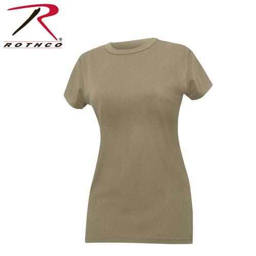 Rothco Womens Longer T-shirt - Coyote Brown