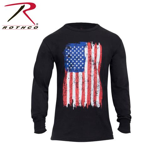Rothco US Flag Long Sleeve T-Shirt - Red/White/Blue