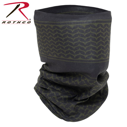 Multi-Use Tactical Wrap w/Shemagh Print - Olive Drab