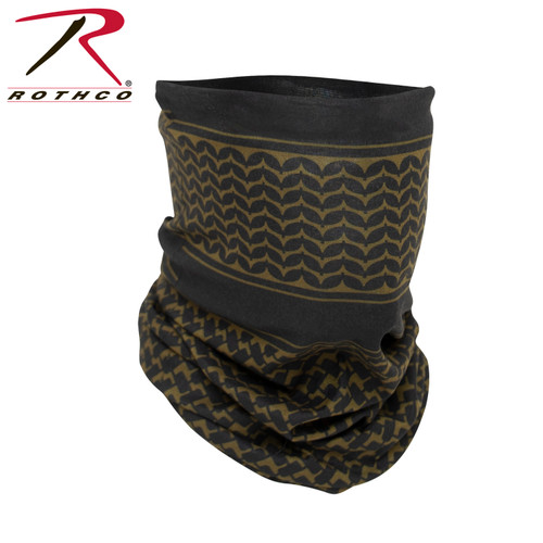 Rothco Multi-Use Tactical Wrap w/Shemagh Print - Coyote Brown