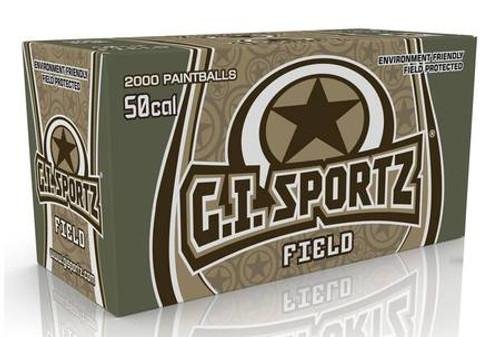 GI Sportz Paintballs - Field - 50cal - Orange - 2000ct