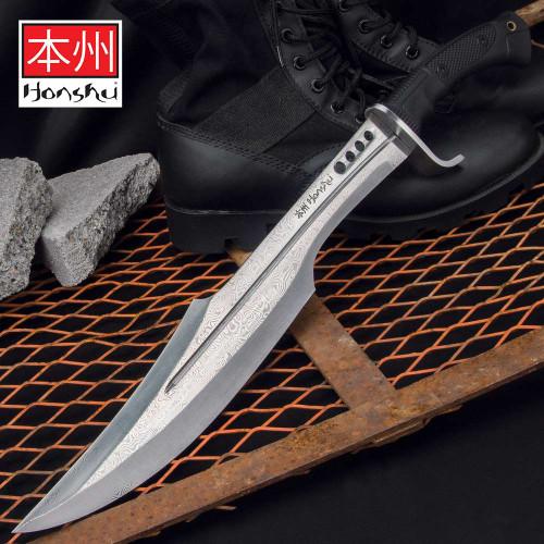 Honshu Damascus Spartan Sword And Sheath