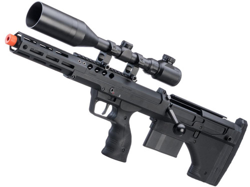"""Desert Tech SRS-A2 16"""" Covert Pull Bolt Action Bullpup Sniper Rifle by Silverback Airsoft (Model: Left-Handed)"""