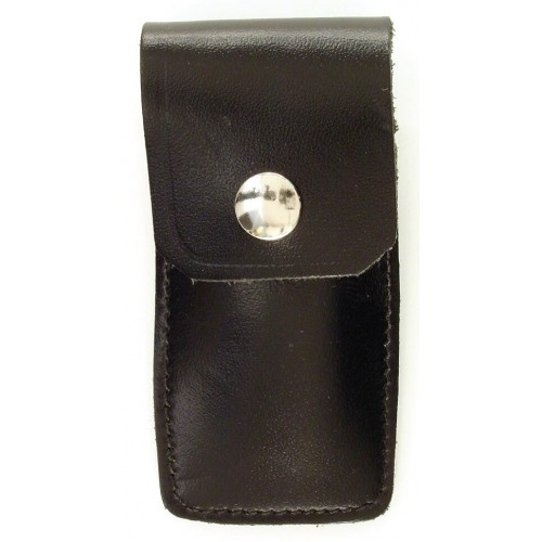 "RUKO 8001, Black Leather Sheath, 2-3/4"" x 1-1/4"", Max 3-1"