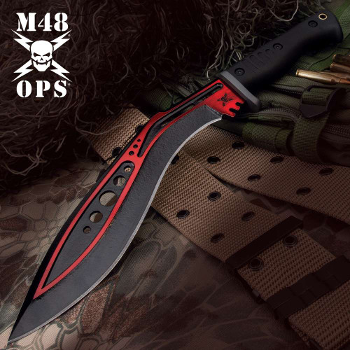 M48 Red Tactical Kukri With Sheath