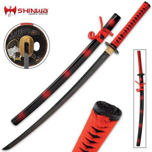 Shinwa Red Katana And Scabbard