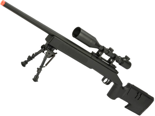 McMillan USMC M40A3 SportLine Airsoft Sniper Rifle by ASG (Color: Black)