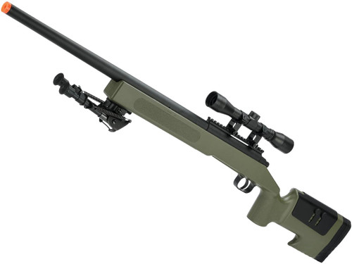 McMillan USMC M40A3 SportLine Airsoft Sniper Rifle by ASG (Color: OD Green)