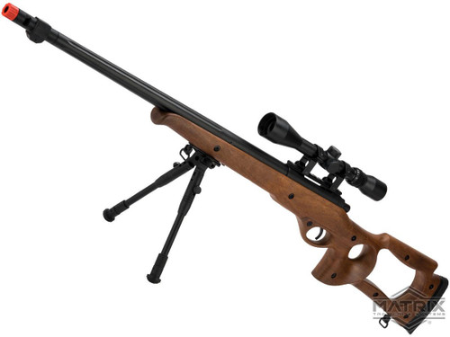 Matrix VSR10 MB09 Airsoft Bolt Action Sniper Rifle by WELL (Package: Gun + Scope and Bipod)