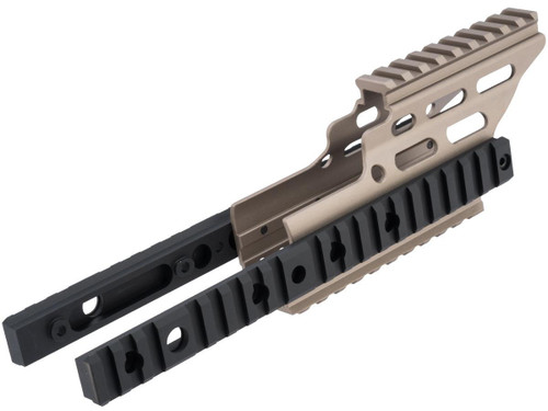 Nitro.Vo Handguard Booster for Tokyo Marui SCAR-L Airsoft New Gen AEG Rifle by Laylax (Color: Dark Earth)