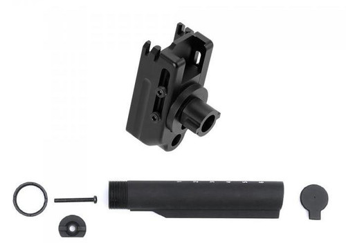 Laylax Stock Adapter w/ M4 Buffer Tube Adapter for Tokyo Marui SCAR-H / SCAR-L Recoil Shock Series Airsoft Rifle