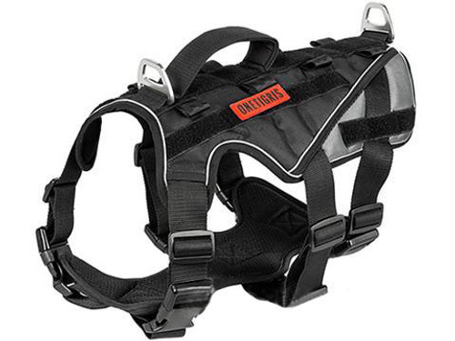 OneTigris MUSCLE K9 Heavy Duty Dog Harness (Color: Black / Medium)