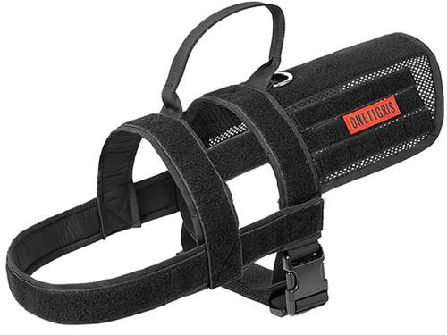 OneTigris SGT PATCH K9 Dog Harness (Color: Black)