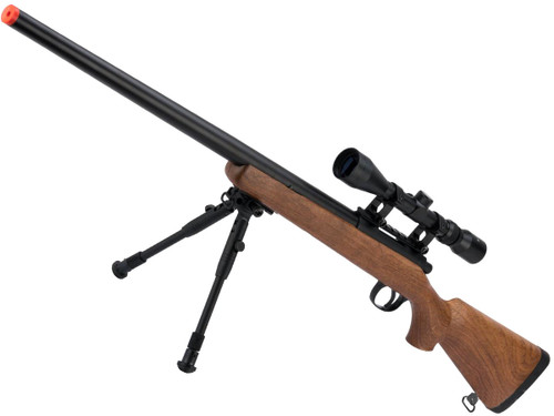 Matrix VSR-10 MB03 Bolt Action Airsoft Sniper Rifle by WELL (Color: Imitation Wood)