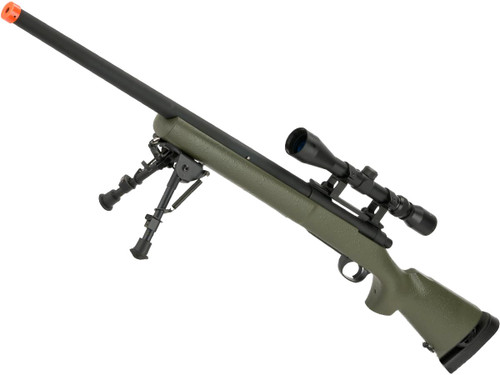 Snow Wolf US Army M24 Military Airsoft Bolt Action Scout Sniper Rifle (Color: OD Green / 550 FPS)