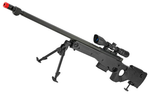 Matrix AW338 Airsoft Bolt Action Heavy Weight Sniper Rifle by UFC (Configuration: Black / 500 FPS Upgrade)