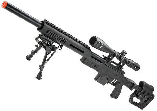 WELL MB4410D Bolt Action Airsoft Sniper Rifle (Color: Black)
