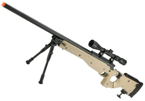 Matrix AW-338 MB08D Bolt Action Airsoft Sniper Rifle with Folding Stock by WELL (Color: Desert)