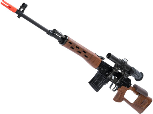 WE-Tech SVD Steel Receiver Airsoft Gas Blowback Sniper Rifle (Type: Imitation Wood Stock and Handguards)