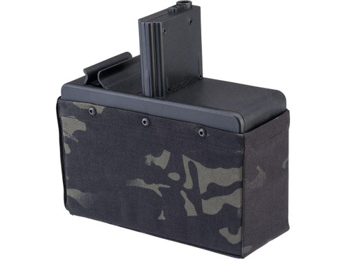 G&G 2500rd Auto Winding Drum Magazine for CM16 Airsoft AEG LMG (Color: Multicam Black / Mag Only)