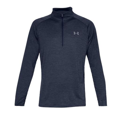 Under Armour Men's Tech 2.0 Half-Zip Long Sleeve Training Shirt (Color: Blue)