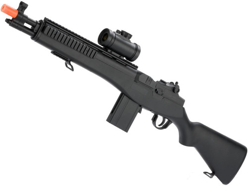 US Socom M14 Full Size Airsoft Bolt Action Powered Sniper Rifle + Red Dot + Flashlight